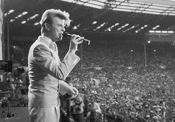 Live Aid 1985 Bowie in Blue by Steve Stachini JFK247
