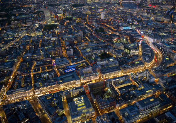 Regent Street and Soho at night by Steve Stachini JFK247