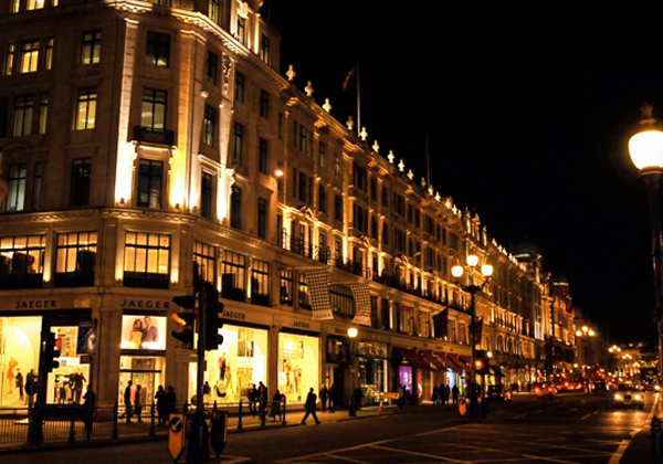 Regent Street at night by Steve Stachini JFK247