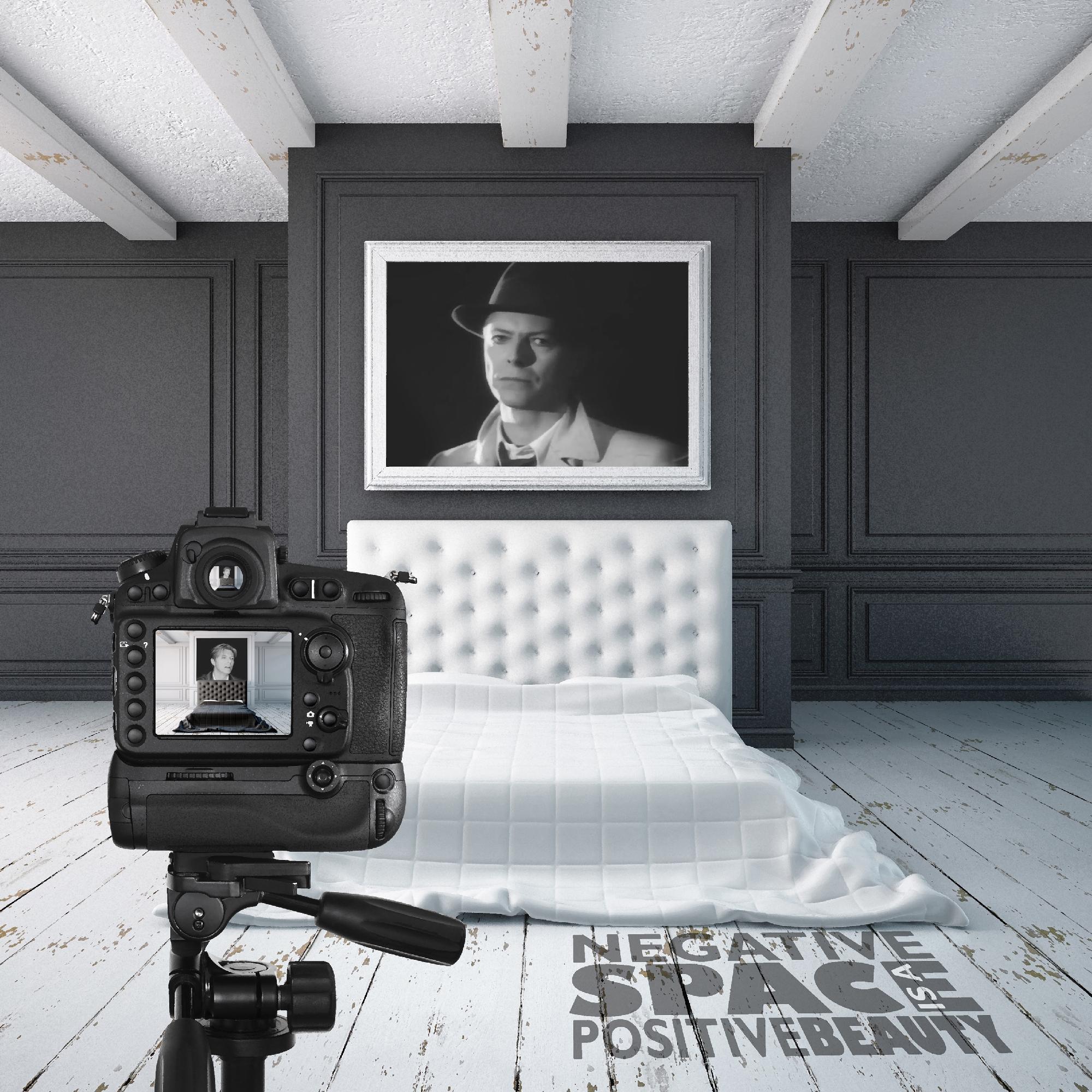 David Bowie Art Creation by Steve Stachini - Negative Space 54cm x 54cm