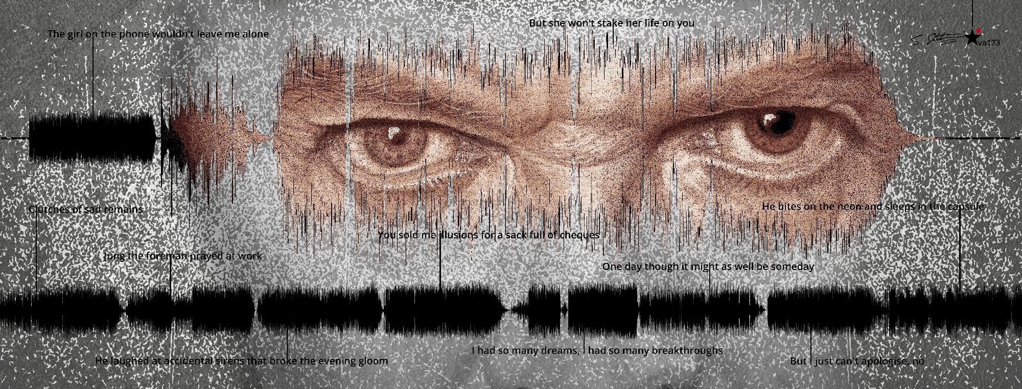 David Bowie Art Creation by Steve Stachini at the blackstar.STUDIO