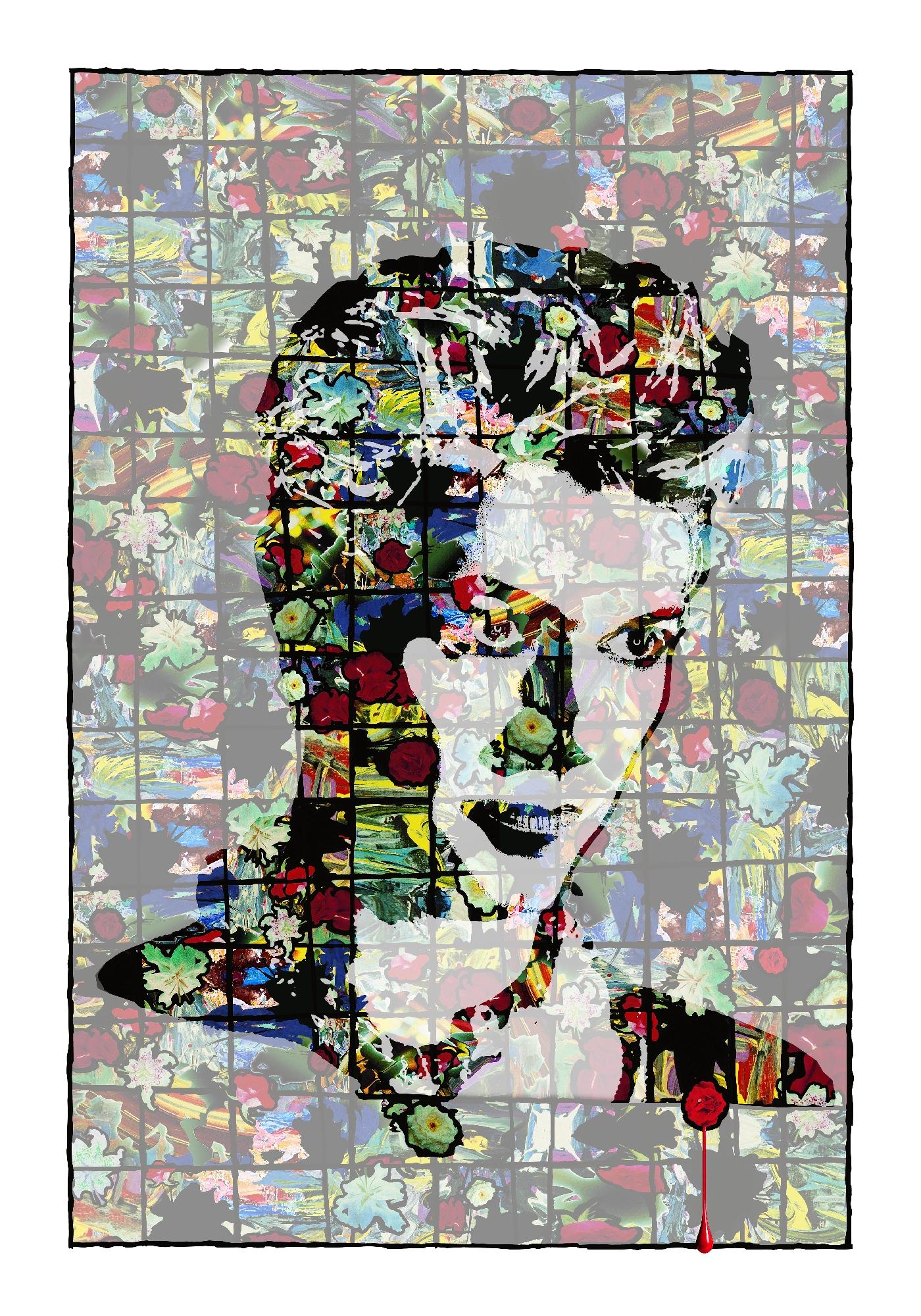 David Bowie Art Creation by Steve Stachin - Screaming Lord Byron 280cm x 400cm