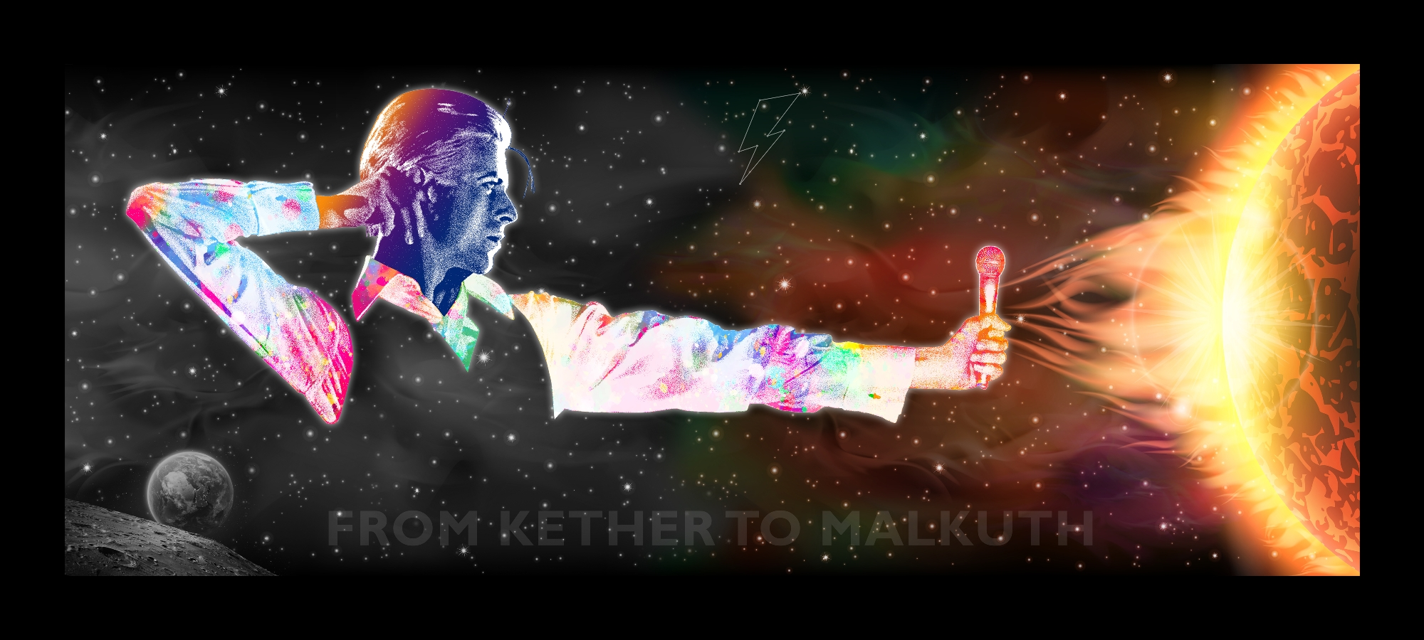 David Bowie Art Creation by Steve Stachin - From Kether To Malkuth 400cm x 180cm