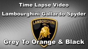 Lamborghini Gallardo Spyder - Grey to Orange and Black