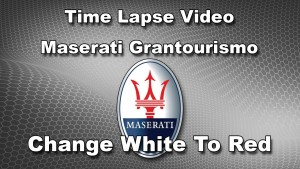 Maserati Grantourismo - From White To Red