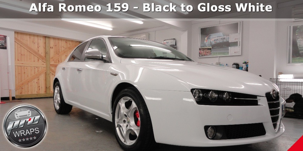 ProWraps - Alfa Romeo 159 - Black to Gloss White-_00028