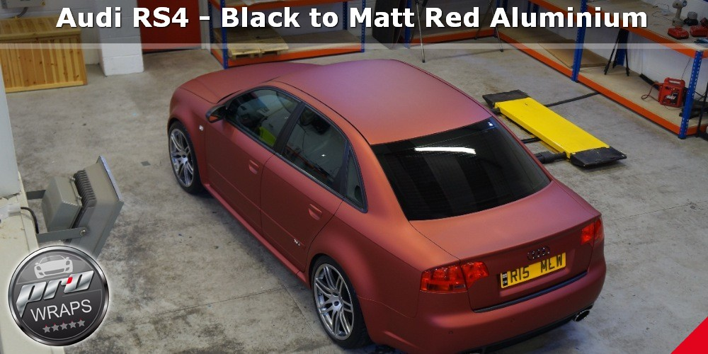 ProWraps - Audi RS4 - Black to Matt Red Aluminium-_48