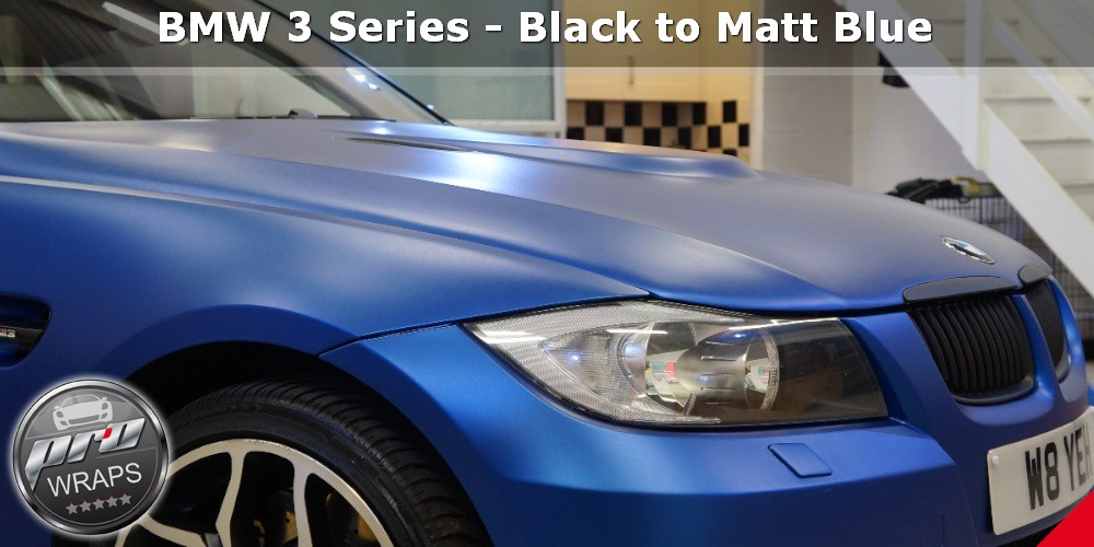 ProWraps - BMW 3 Series - Black to Matt Blue-_26