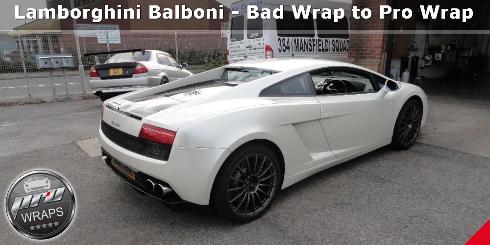 Lamborghini Gallardo Balboni Bad Wrap To Pro Wrap