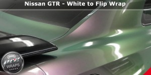 ProWraps - Nissan GTR - White to Flip Wrap-_46